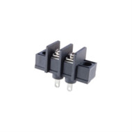 TERMINAL BLOCK BARRIER 2 POLE 9.50MM PITCH 300V 25A SOLDER TERMINALS 22-12AWG WIRE RANGE (nte_25-B100-02)