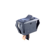 SWITCH ROCKER MINIATURE SNAP-IN SPST OFF-NONE-ON 16A 125VAC BLACK ACTUATOR .250 INCH QC TERMINALS (nte_54-060)