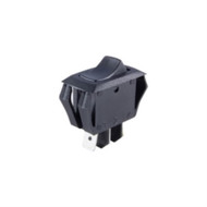 SWITCH ROCKER MINIATURE SNAP-IN SPDT ON-OFF-ON 16A 125VAC BLACK ACTUATOR .250 INCH QC TERMINALS (nte_54-063)