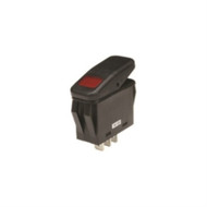SWITCH WATERPROOF ILLUMINATED ROCKER SPST 20A ON-NONE-OFF RED 110V NEON LAMP .250 QC TERMINALS (nte_54-215W)