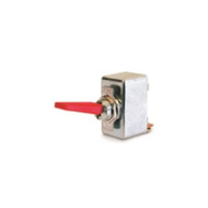 SWITCH PADDLE HANDLE TOGGLE SPST ON-NONE-OFF 50A 125VAC RED PADDLE .500 IN MOUNT HOLE SCREW TERMINAL (nte_54-561)