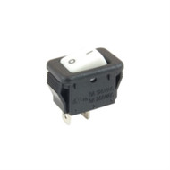 SWITCH MICRO SNAP-IN ROCKER SPST ON-NONE-OFF 6A 125VAC WHITE ACTUATOR W/LEGEND SOLDER LUG TERMINALS (nte_54-870)