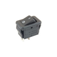 SWITCH MICRO SNAP-IN ROCKER SPST ON-NONE-OFF 6A 125VAC BLACK ACTUATOR W/LEGEND SOLDER LUG TERMINALS (nte_54-872)