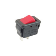 SWITCH MICRO SNAP-IN ROCKER SPST ON-NONE-OFF 6A 125VAC RED ACTUATOR NO LEGEND SOLDER LUG TERMINALS (nte_54-874)
