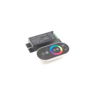 REMOTE AND RECEIVER FOR R/G/B FLEXIBLE LED STRIPS SOFT TOUCH SOLID GRADUAL HOPPING MODES COLOR RING (nte_69-RTC1)