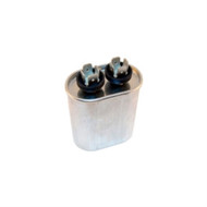 CAPACITOR MOTOR RUN AC METALLIZED 10UF 440VAC 5% OVAL .250 INCH 4 WAY QUICK CONNECT TERMINALS (nte_MRC440V10)