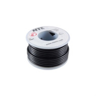 HOOK UP WIRE 300V SOLID TYPE 18GAUGE BLACK 25 FEET (nte_WHS18-00-25)