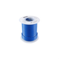 HOOK UP WIRE 300V SOLID TYPE 18GAUGE BLUE 25 FEET (nte_WHS18-06-25)