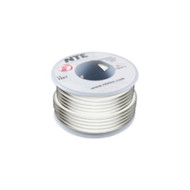 HOOK UP WIRE 300V SOLID TYPE 18GAUGE WHITE 25 FEET (nte_WHS18-09-25)