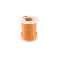 HOOK UP WIRE 300V STRANDED TYPE 18GAUGE ORANGE 100 FEET (nte_WH18-03-100)