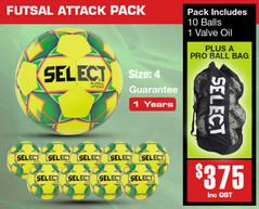 Attack Futsal Ball Pack