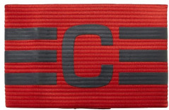 FB CAPT ARMBAND SCARLET/DARK GREY [FROM: $13.50]