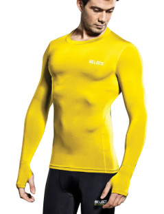 COMPRESSION JERSEY L/S YELLOW [FROM: $48.00]