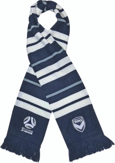 Melbourne Victory Rib-Knit Scarf