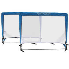ALPHA GEAR SQUARE 4FT POP UP GOALS - 2 IN ONE CARRY BAG [FROM: $96.00]
