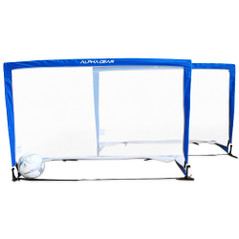 ALPHA GEAR SQUARE 5FT POP UP GOALS - 2 IN ONE CARRY BAG [FROM: $112.00]