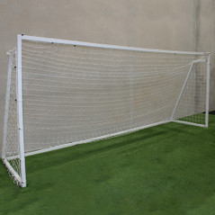 FULL SIZE JNR 5M X 2M ALUMINIUM FRAME PORTABLE GOALS [FROM: $810.00]