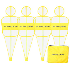 4 PACK OF DEFENSIVE MESH BODIES TO CONVERT AGILITY POLES INTO DEFENSIVE MANNQUINS [FROM: $63.00]