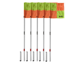 CORNER PRO FLAGS SET OF 4 WITH GROUND INSERT (NO SPIKE) [From: $90.00]