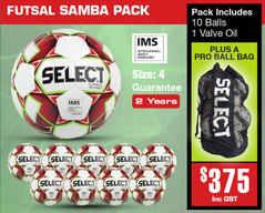 Samba Futsal Ball Pack