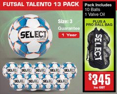 Talento Jnr Futsal Ball Pack