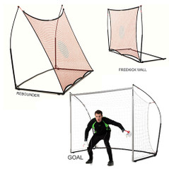 QUICKPLAY 3 In 1 ELITE GOAL REBOUNDER FREEKICK WALL COMBO [FROM: $285.00]
