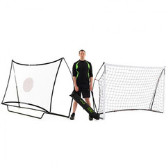 QUICKPLAY KICKSTER GOAL & REBOUNDER COMBO 8 X 5ft [FROM: $218.50]