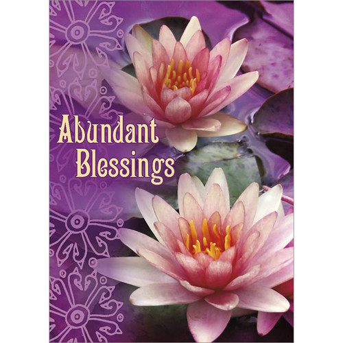 Abundant Blessings Greeting Card