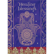 Healing Blessings Hamsa Greeting Card