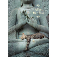 Blissful Cat Greeting Card