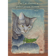 Zen Cat Observes Greeting Card
