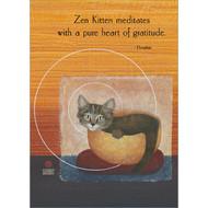 Zen Kitten Meditates Greeting Card
