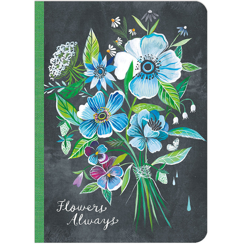 Flowers Always Lined Travel Size Journal By Katie Daisy Amber Lotus Publishing