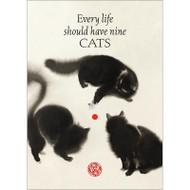 Nine Cats Greeting Card