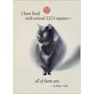 Zen Master Cat Greeting Card