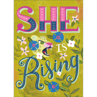 She Is Rising Greeting Card