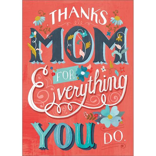 Thanks Mom Greeting Card