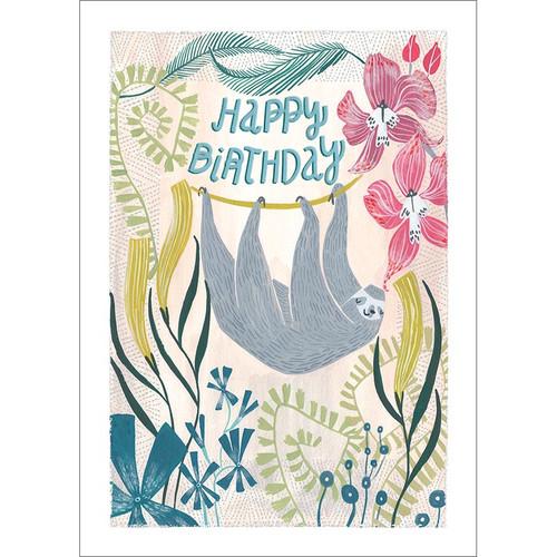 Birthday Sloth Greeting Card