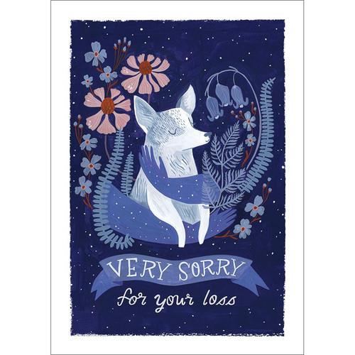 Dog Sympathy Greeting Card