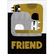 Friendship Cats Greeting Card