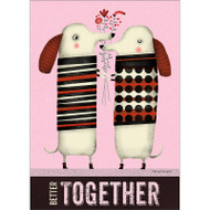 Dachshunds Together Greeting Card