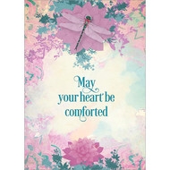 May Your Heart Be Comforted Dragonfly Greeting Card