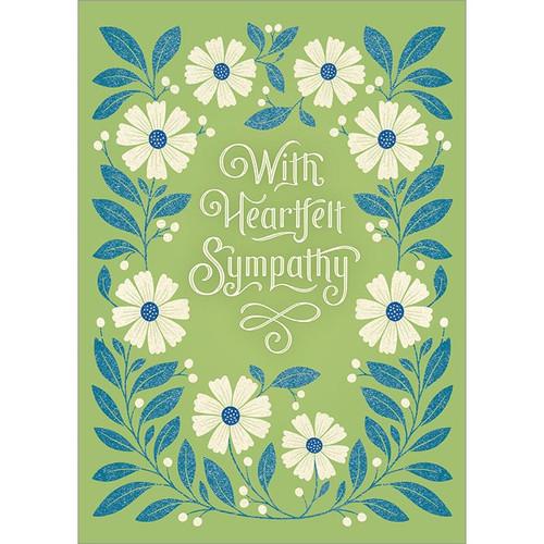 With Heartfelt Sympathy Greeting Card