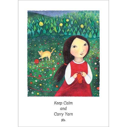 Carry Yarn Greeting Card