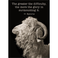 The Greater The Difficulty Greeting Card