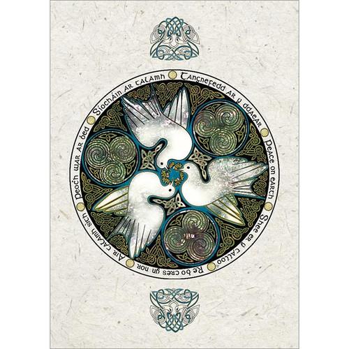 Celtic Doves Greeting Card