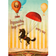 Impossible Things Happen Every Day Lined Travel-Size Journal