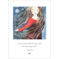 Snow Lady Greeting Card