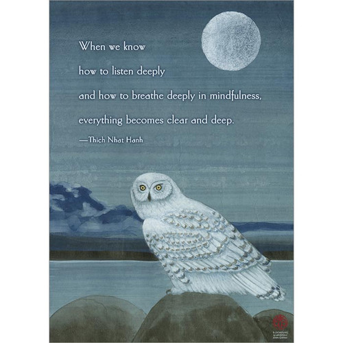 Clear and Deep Greeting Card