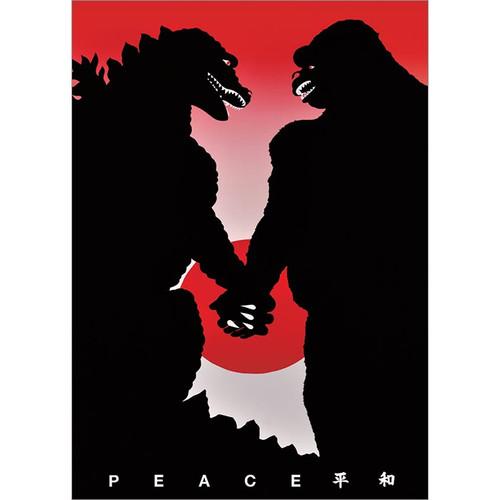 Godzilla and King Kong Greeting Card